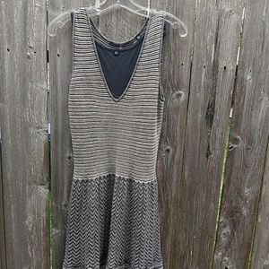 Anthropologie Silver black dress